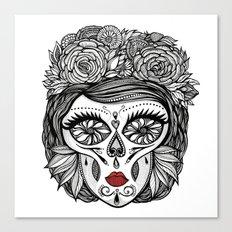 Miss Calavera Canvas Print