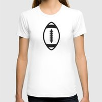 Rugby - Balls Serie Womens Fitted Tee White SMALL