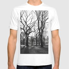 Central Park - New York White Mens Fitted Tee SMALL