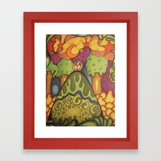 girl on a hill Framed Art Print