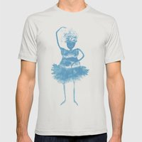 Ballerina Mens Fitted Tee Silver SMALL