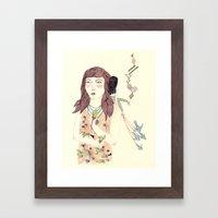Pricked Framed Art Print