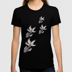 Just Keep Swimming Womens Fitted Tee Black SMALL
