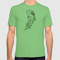 Owls Mens Fitted Tee Grass SMALL