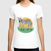 zebra T-shirts featuring Zebra by Nir P