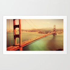 Golden Gate Bride Art Print