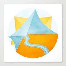 The Little Boat Under the Sun Canvas Print