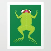 Knife the frog Art Print