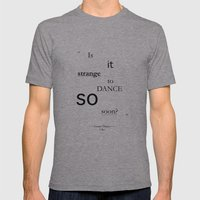 Strange? Mens Fitted Tee Athletic Grey SMALL