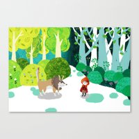 Red Riding Hood And The … Canvas Print