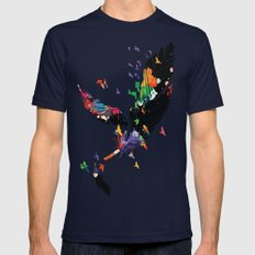 Feathers Mens Fitted Tee Navy SMALL