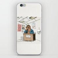 Chewwie at work iPhone & iPod Skin