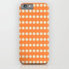 Circular Orange Dots Pattern Slim Case iPhone 6s