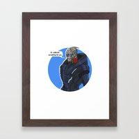 Garrus Framed Art Print