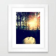 Backyard Sunset Framed Art Print