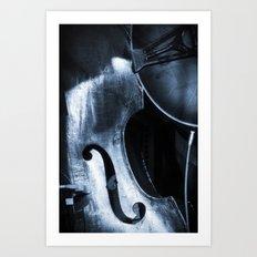 Double Bass Art Print