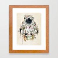 the astronaut Framed Art Print