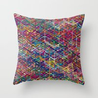 Cuben Network 2 Throw Pillow