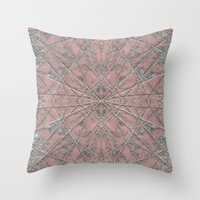 Snowflake Pink Throw Pillow