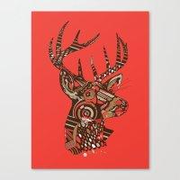 ROAD KILL ~ RED Canvas Print