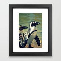 Beach Buddies Framed Art Print