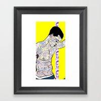 Abstract Man Framed Art Print