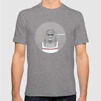 Gorillas love exercise Mens Fitted Tee Tri-Grey SMALL