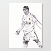 CR7 Drawing Canvas Print