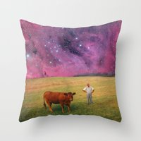 How Now Brown Cow #2 - W… Throw Pillow