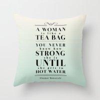 Strong Tea Throw Pillow