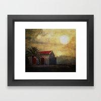 Madeira. Beach House Framed Art Print