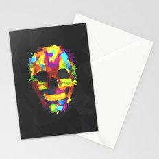Meduzzle: Colorful Geometry Skull Stationery Cards
