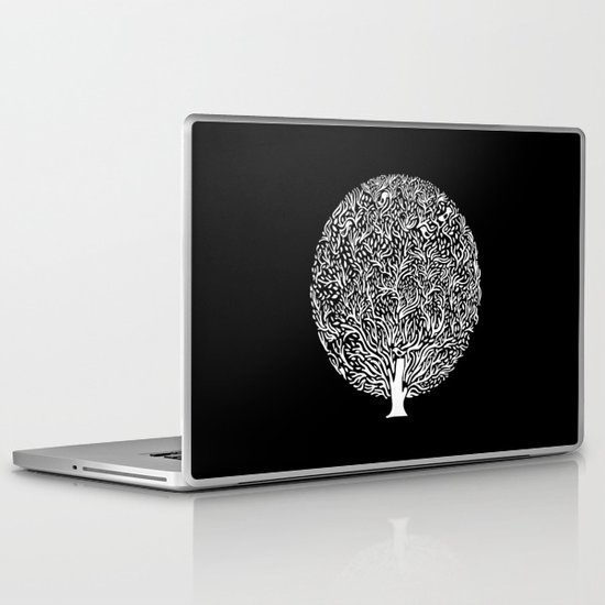 Black and White Tree Laptop & iPad Skin