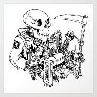 Grim Reaper - Power Scyt… Art Print