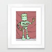Robot Jones Framed Art Print