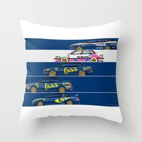 Colin McRae, The Subaru … Throw Pillow