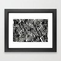 Linocut Framed Art Print