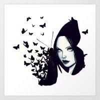 Butterflies 2.0 Art Print