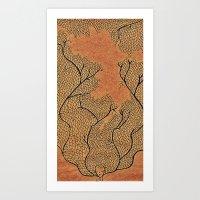 Leafyhead Art Print