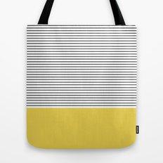 MINIMAL Green Stripes Tote Bag