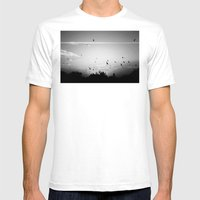 Migrating birds #02 Mens Fitted Tee White SMALL
