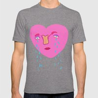 Happy V-day Mens Fitted Tee Tri-Grey SMALL