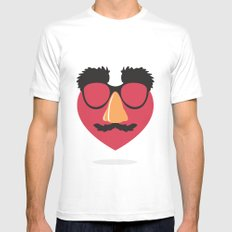 Love in Disguise SMALL White Mens Fitted Tee
