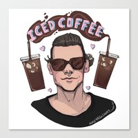 Iced Coffee Haz Canvas Print