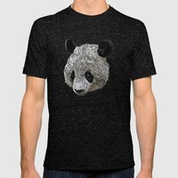 panda  Mens Fitted Tee Tri-Black SMALL