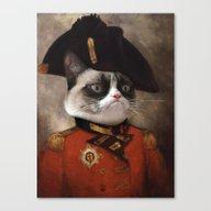 Angry Cat. Grumpy Genera… Canvas Print