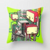 Cubots Throw Pillow