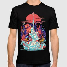 Smash! Zap!! Zooom!! - Generic Spacecraft Mens Fitted Tee Black SMALL