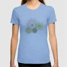Modern Spiro Art #4 Womens Fitted Tee Athletic Blue SMALL