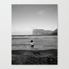 Dancing with the ocean Canvas Print